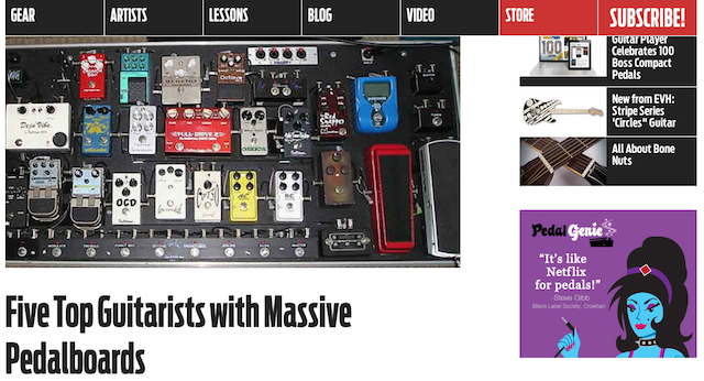 Five Top Guitarists with Massive Pedalboards   GuitarPlayer