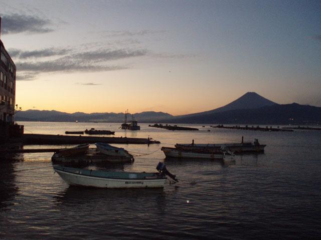 西伊豆からの夕焼け富士